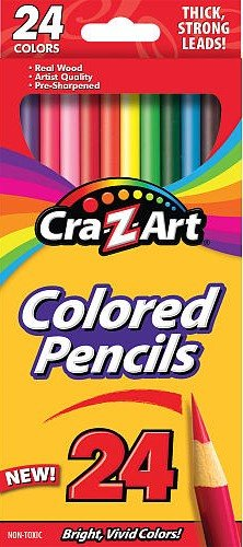 Cra-Z-Art 24ct Pre-Sharpened Strong Colored Pencils