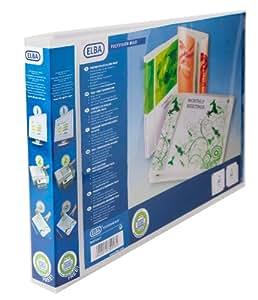 Elba 100080803 Polipropileno (PP) Transparente - Carpeta (Polipropileno (PP), Transparente, A3, Paisaje, 3 cm)