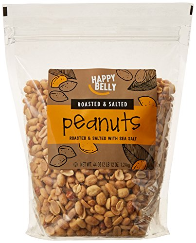 (Amazon Brand - Happy Belly Roasted and Salted Peanuts, 44 ounce)