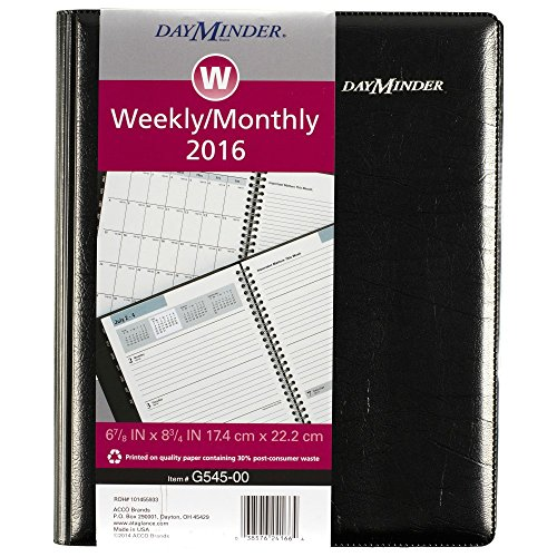 DayMinder Executive Planner 2016, Weekly/Monthly Planning, 6