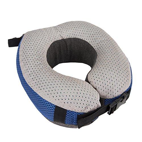 Travelon Cooling Gel Memory Foam Pillow, Cobalt/Gray