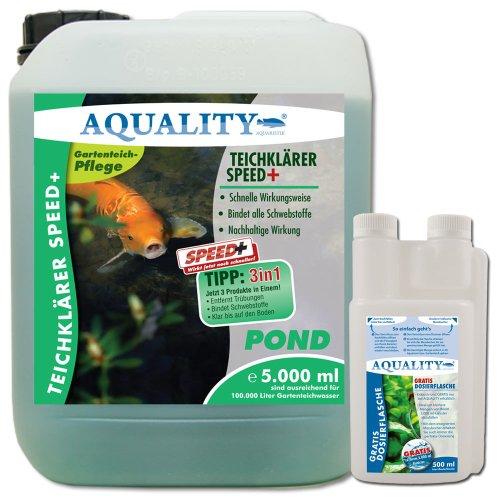 AQUALITY TeichKlärer SPEED+ 3in1, Inhalt:5.000 ml
