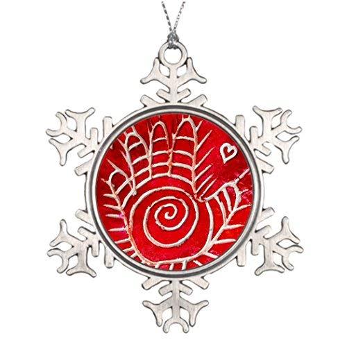 narxekezhaeta Tree Decorating Ideas Hamsa/Healing Hand/Hand of Fatima Western Christmas Snowflake Ornaments Tree Decor