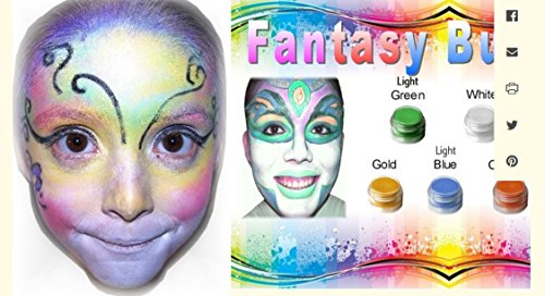 Face Paint Fantasy Butterfly All Natural Non (Butterfly Costume Face Paint)