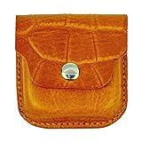 Leather Ear Buds Case, Crocodile Grain