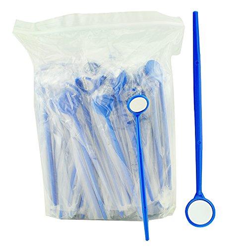 Enshey 100pcs Disposable Dental Exam Mouth Mirrors Oral Dental Mirror Plastic Dental Instrument
