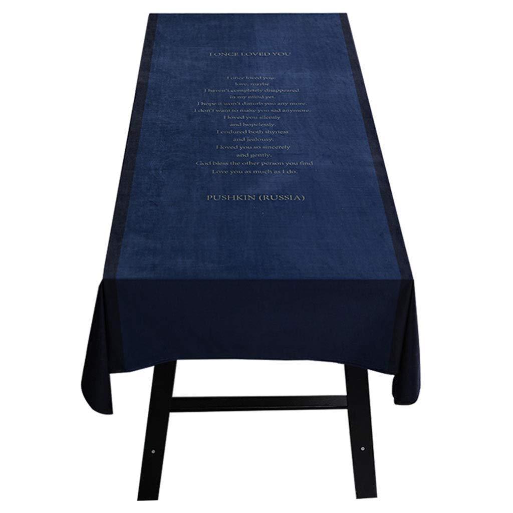 A 140220cm Nappes Nappe - Velours Luxe Imperméable Tapis De Table Tissu Nappe De Table Basse Nappe Ronde Couleur Unie (Couleur   B, Taille   100  140cm)