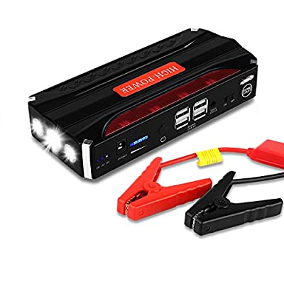 Car Jump Starter, Yokkao 16500mAh Portable Car Jump Starter Battery Booster Pack Power Bank with LED Torch for Laptop Phone Tablet and More ...