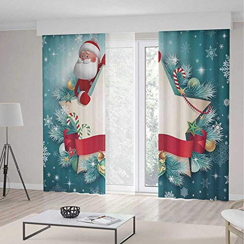 Blackout Curtains,Christmas Decorations,Window Drapes for Bedroom Living Room