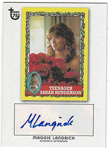 Autographs Henderson (Maggie Langrick 2013 Topps 75th Teenager Sarah Henderson Autograph Card)