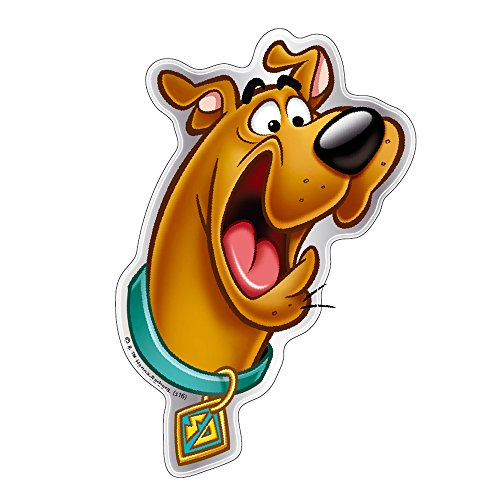 Fan Emblems Scooby Doo Logo Car Decal Domed/Multicolor/Chrome Finish, Scared Scooby Automotive Sticker Decal Badge Easily Applies to Cars, Trucks, Motorcycles, Laptops, Cellphones, Almost Anything ()