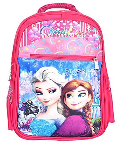 The Frozen Free Fall Double Shoulders School Bag for Girls Student