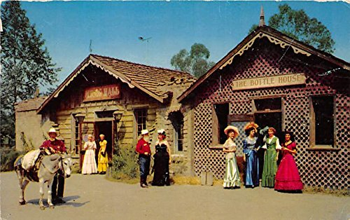 Bottle House and Music Hall Knott's Berry Farm, Ghost Town, California, CA, USA Postcard Post Card