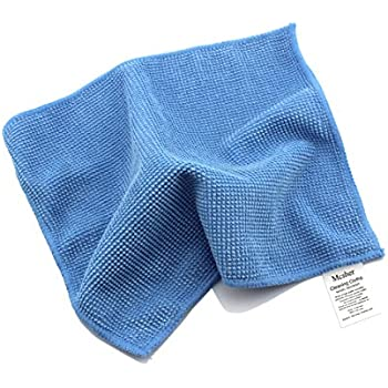 Mcsher Microfiber Cleaning Cloths - 6 Pack, Blue, 6