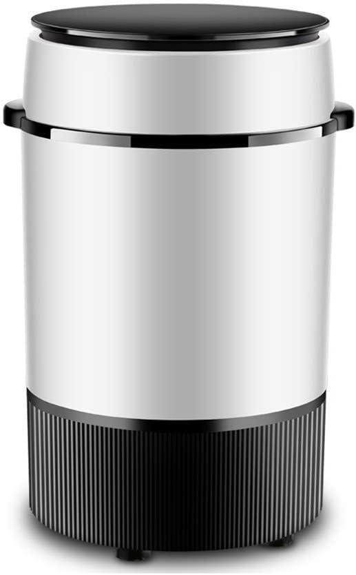 HIGHKAS Mini Lavadora Mini Secadora rotativa compacta semiautomática portátil con Cesta de deshidratación Desmontable Lavadora de Barril Individual para el hogar