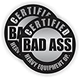 Bas A$$ Heavy Equipment Operator Hard Hat Sticker / Decal / Label Tool Lunch Box Motorcycle Helmet Excavator Bulldozer