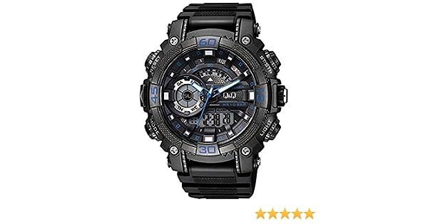 Q&Q Reloj de los hombres GW87J003Y analógica / digital con Correa de Resina: Amazon.es: Relojes