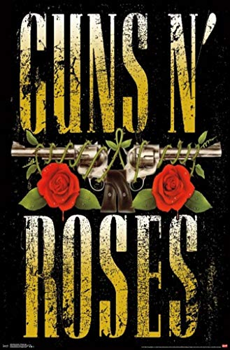 E Guns N Roses 80s Gun Logo Music Poster Print (22x34 UNFRAMED Poster)