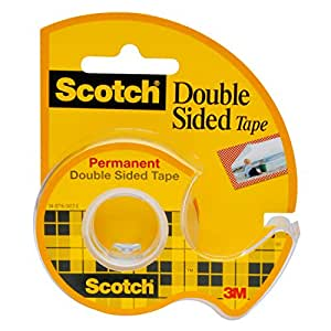 Scotch 137D - Rollo de cinta adhesiva con dispensador, transparente