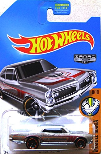 Hot Wheels 2017 Muscle Mania '67 Pontiac GTO, Exclusive ZAMAC - Exclusive Hot Toys