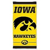 NCAA Iowa Hawkeyes Fiber Beach Towel, 30 x 60-Inch