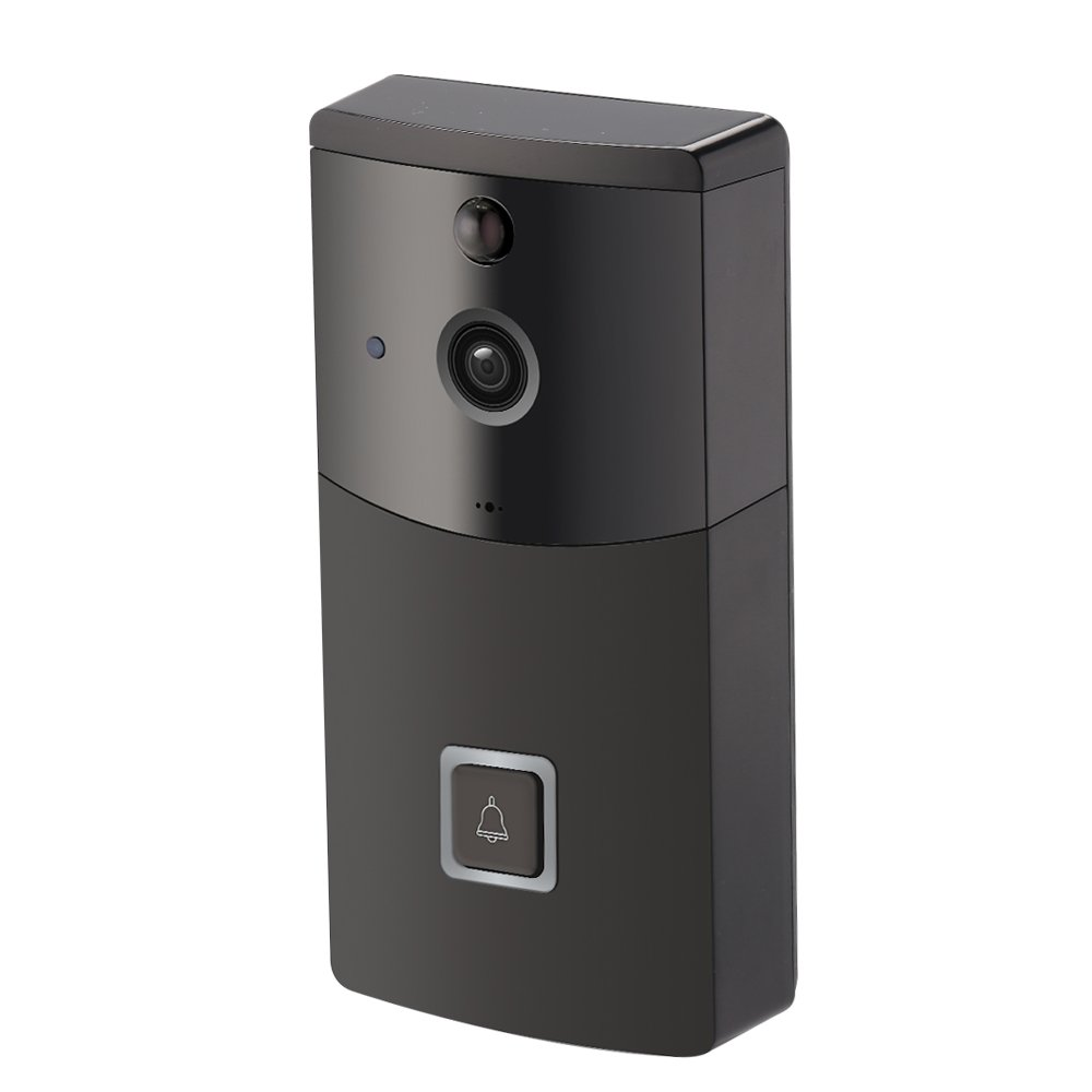 OWSOO Smart Wireless WiFi Security Waterproof Night Vision DoorBell Low Power Consumption Smart Video Door Phone Visual Recording Remote Home Monitoring Cloud Storage