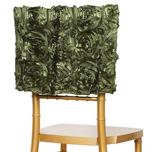 Mikash 25 Chiavari Grandiose Rosette Chair Cap Wedding Reception Party Decorations | Model WDDNGDCRTN - 20739 | ()
