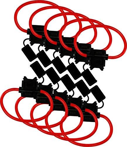 10 Pack - EPAuto ATC / ATO 10 Gauge 30 AMP In-Line Fuse Holder