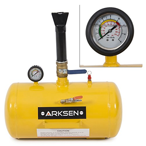 ARKSEN 10GAL Bead Seater Inflator Air Blaster Tire 10-Gallon Heavy Duty Car Truck ATV Trailer RV Pressure, Yellow