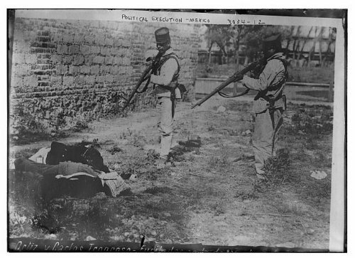 Photo: Political execution -- Mexico,event during Mexican Revolution,1910-1915,death