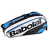 Babolat Badminton Tennis Bag RHX6 Pure White Blue Racket 751135-148