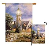 Ornament Collection S191074-BO Warm Lighthouse Coastal Nautical Impressions Decorative Vertical House 28″ X 40″ Garden 13″ X 18.5″ Double Sided Flags Set Printed in USA Multi-Color