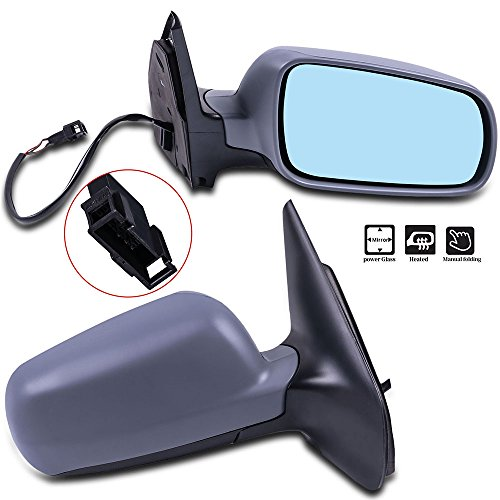 SCITOO Pair Door Mirrors fit 1999-2006 VW Volkswagen Golf Jetta 2006 Jetta Wagon 07-10 Jetta Sedan Heated Power Adjusted Manual Folding Side Mirrors