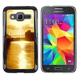 TopCaseStore / la caja del caucho duro de la cubierta de protección de la piel - Nature Beautiful Forrest Green 67 - Samsung Galaxy Core Prime SM-G360