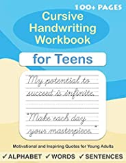 Cursive Handwriting Workbook for Teens: A cursive writing practice workbook for young adults and teens (Beginn
