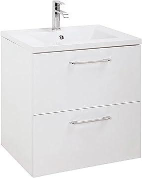 Amazon Com Randalco Modern Bathroom Floating Vanity Cabinet Set White 24 X 24 X 18 Inch Vanity Ceramic Top Sink Mirror Home Improvement