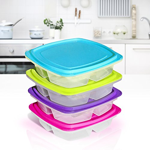 happy lunchboxes 3 compartment leak proof bento lunch box containers for kids. Black Bedroom Furniture Sets. Home Design Ideas
