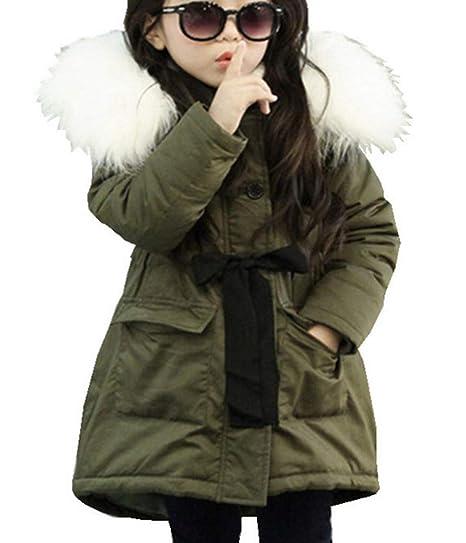 d9e69905d451 LeeHaru Magike Doudoune Enfant Fille Hiver avec Capuche Fourrure Longue  Manteau vêtement Fille Chaud Epais  Amazon.fr  Vêtements et accessoires