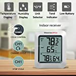 ThermoPro TP-60S Digital Hygrometer Indoor Outdoor Thermometer Humidity Monitor, with Temperature Gauge Meter, Wireless, 200ft/60m Range, Thermometer & Hygrometer 10 Buy without risk! - Thermopro TP60S digital indoor outdoor hygrometer displays temp and humidity for both inside and outside simultaneously【1 YEAR WARRANTY! REGISTER your product after purchase and RECEIVE EXTENDED 3 YEARS Warranty】. Wireless humidity meter thermometer measures indoor outdoor temperatures and humidity percentages, can display the readings from up to 3 outdoor remote sensors 【additional 2 sensor (ASIN B072BY1M2V) can be ordered】to monitor different locations. Temperatures display in °F or °C All time/24 hours MAX & MIN humidity temperature and humidity percentages records. Temperature trend arrows indicate whether it's getting warmer or colder near remote sensor.