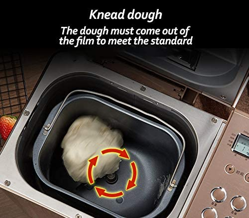 Machine à pétrir la pâte automatique, machine à pain en acier inoxydable, machine à pain programmable, réglage sans gluten, réserve, garder au chaud