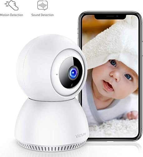 Stay Strong,USA Victure 1080P Home Security Camera Wireless Indoor Surveillance Camera Smart 2.4G WiFi IP camera with 2-Way Audio Night Vision Sound Detection and Motion Tracking for Baby Pet Monitor