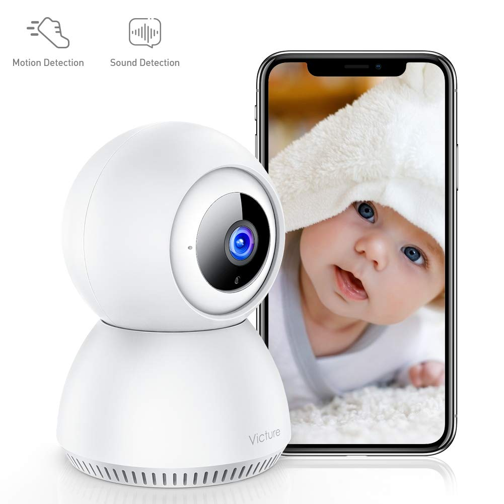 Victure 1080P Home Security Camera Wireless Indoor Surveillance Camera Smart 2.4G WiFi IP camera with 2-Way Audio Night Vision Sound Detection and Motion Tracking for Baby Pet Monitor with iOS Android