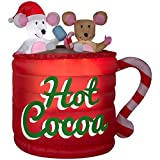 Holiday Living Animated Airblown Hot Chocolate