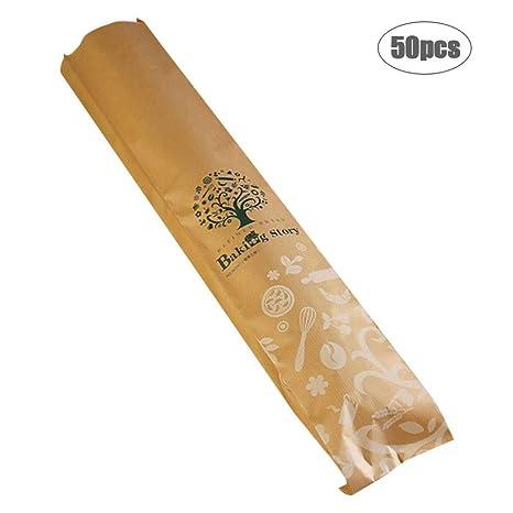 Bulary 50Pcs Bolsa Baguette Larga 10 4 59 CM Pan de Pan ...