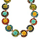 Sweet Romance Rose Collar Necklace (Bronze)