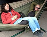 "Hammock Bliss Double - Extra Large Portable Hammock - Ideal For Camping, Backpacking, Kayaking & Travel - Suspension System Included -  100"" / 250 cm Rope Per Side - Quality You Can Trust"