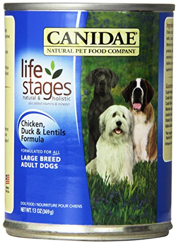 Canidae 404180 12-Pack Large Breed Adult Dogs Duck And Lentils Food For Pets, 13-Ounce