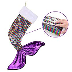 Sparkly Mermaid Tail Reversible Christmas Stocking