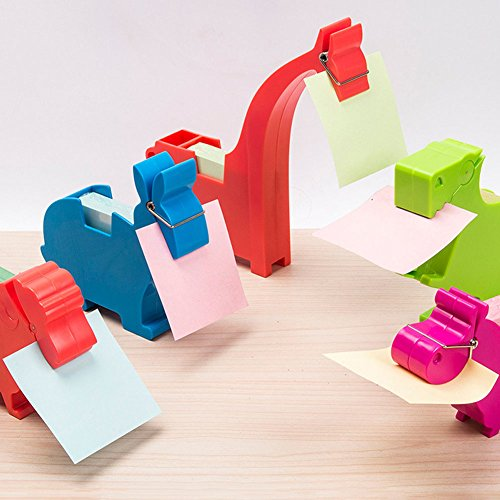 Lzttyee Animal Shape Multi-functional Plastic Memo Holder/Note Dispenser/Desktop Note Pad/Pen Holder with 200 Sheets Memo Pad for Office School Supplies (Elephant Yellow) by Lzttyee (Image #5)