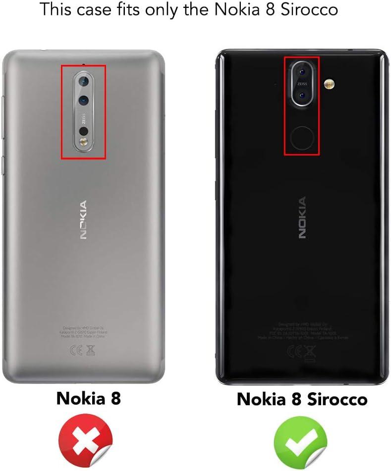 NALIA Cristal Templado Compatible con Nokia 8 Sirocco, 9H Vidrio ...